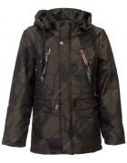 JKI-036# т.зел Куртка мальчик 128-152 по 5