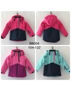 B6004 красн Куртка девочка 104-122 по 4