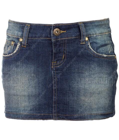 065 Юбка джинс.женская 25-28 по 6