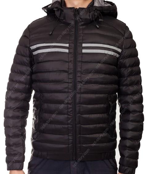 5855 чёрн. Куртка мужская 46-52  по 4