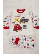 Пижама для мальчика красная 4-6 лет по 3 шт. арт. 3170