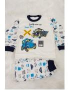 Пижама для мальчика синяя 4-6 лет по 3 шт. арт. 3170