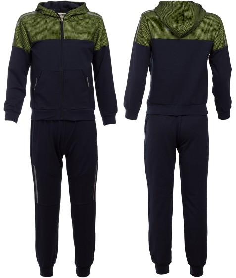 2206 зел Спорт костюм мальчик 4-12 по 5