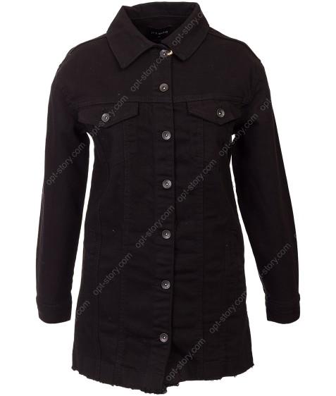 714 Siyah Джинсовый пиджак женский 36-40 по 4
