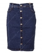 4207 Dark Blue Джинсовая юбка женская  25-30 по 6