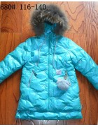 680 розовый Пальто девочка 116-140