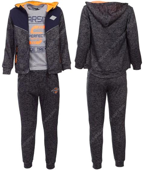 39027 оранж Спорт.костюм мальчик 4-12 по 5