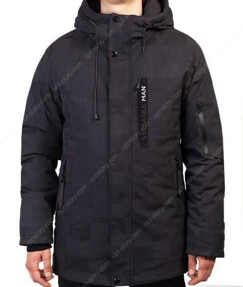 2072 черн. Куртка мужская 46-54 по 5