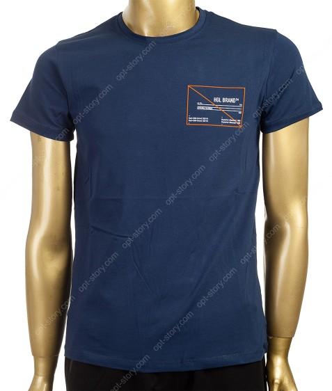 7684 т.синий Футболка мужская M - 2XL по 4шт