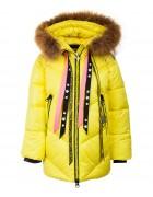 8992  желт. Куртка девочка 104-128 по 5