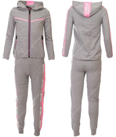 7320 серый Спортивный костюм девочка 6-16 по 6