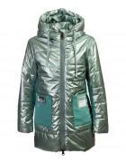 HL-222 зел. Куртка девочка 122-146 по 5