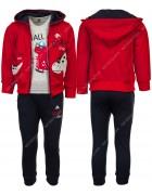 KK1069 красный Спортивный костюм мальчик 1-5 по 5
