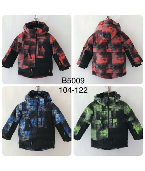 B5009 оранж. Куртка мальчик 104-122 по 4
