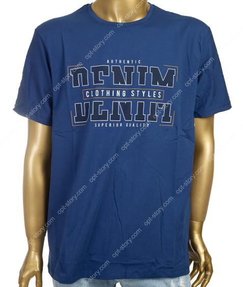 7601 синий Футболка мужская 3XL -6XL по 4шт