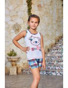 Пижама для девочки размер 5-6 по 3 шт. арт. 6538