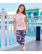 Пижама для девочки размер 7-8 лет по 3 шт. арт. 6571