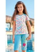 Пижама для девочки размер 7-8 по 3 шт. арт. 6554