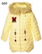 669 желтый Куртка девочка 128-152 по 5шт