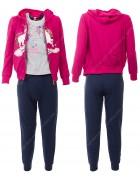 52494 розовый Спортивный костюм девочка 4-12 по 5