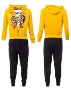 52503 желтый Спортивный костюм девочка 8-16 по 5