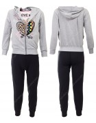 52503 серый Спортивный костюм девочка 8-16 по 5