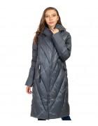 47407 зел/графит Куртка женская L-5XL по 6