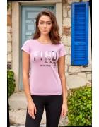 8094 Футболка женская розовая L по 3