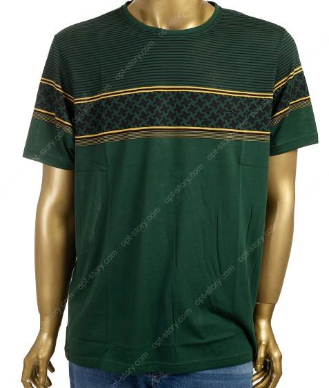 1816436B зеленый Футболка MARATON мужская  3XL-6XL по 4