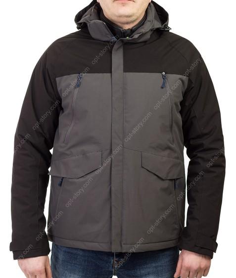 B991 сер Куртка мужская M-3XL по 5