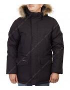 M082#03 черн.Куртка мужская (аляска) мех  48-56 по 5