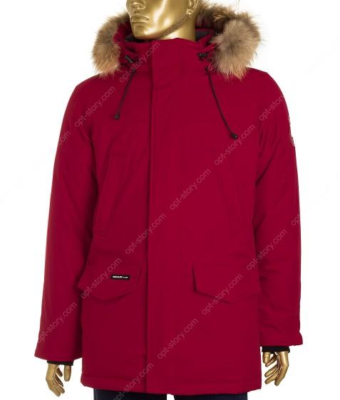23966 красн.Куртка мужская (аляска) мех  48-56 по 5