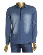 2626 светл.Рубашка джинс.мужская (дл.рукав) S-XL по 4