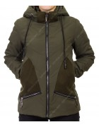 8896 зел Куртка женская S-2XL по 5