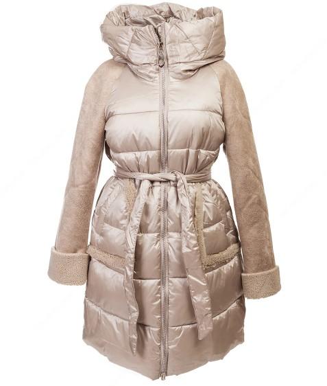6203# бежевый Куртка женская еврозима  36-42 по 4