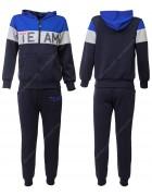 KK1005 синий  Спорт. костюм мальчик 8-16 по 5