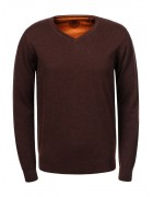 MMY-9037 коричневый Свитер мужской XL-5XL 60/30