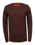 MMY-9038 коричневый Свитер мужской XL-5XL 60/30