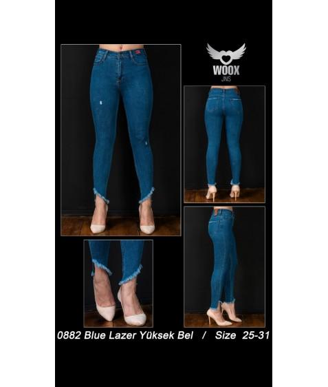 0882 blue laser Джинсы женские 25-31 по 7