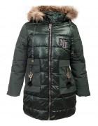 LH-23 зел. Куртка девочка 122-146 по 5
