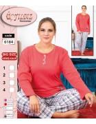6184 розовый Пижама женская батал XL-4XL по 4