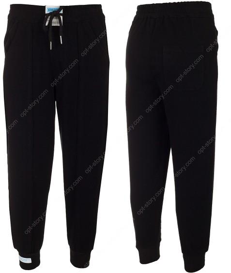 2153 черный Спорт штаны дев 120-160 по 5