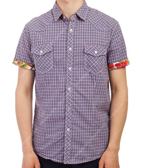 3662 фиолет. Рубашка мужская M-3XL по 5