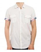 3666 белая  Рубашка мужская M-3XL по 5