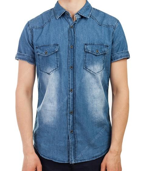 3765  Рубашка джинс. мужская M-3XL по 5