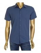 1311V-5 син.(кор. рукав) Рубашка мужская S-XL по 4