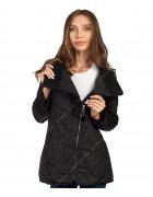 1102 чёрн Куртка женская M-2XL по 4