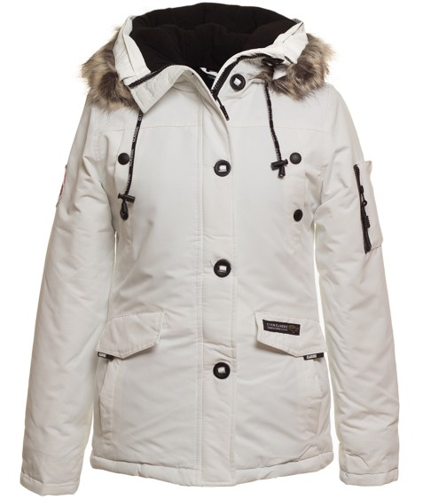 71028 белый  Куртка женская S- 2XL по 5