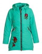L-8844 бирюз Куртка девочка 134-158 (146)