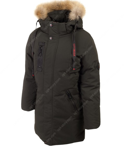 A-018 хаки Куртка мальчик 146-170 по 5